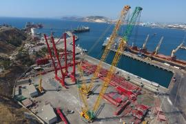 Hareket, İzmir Aliağa Limanı'nda 2 adet Liebherr STS liman vinci montajına başladı
